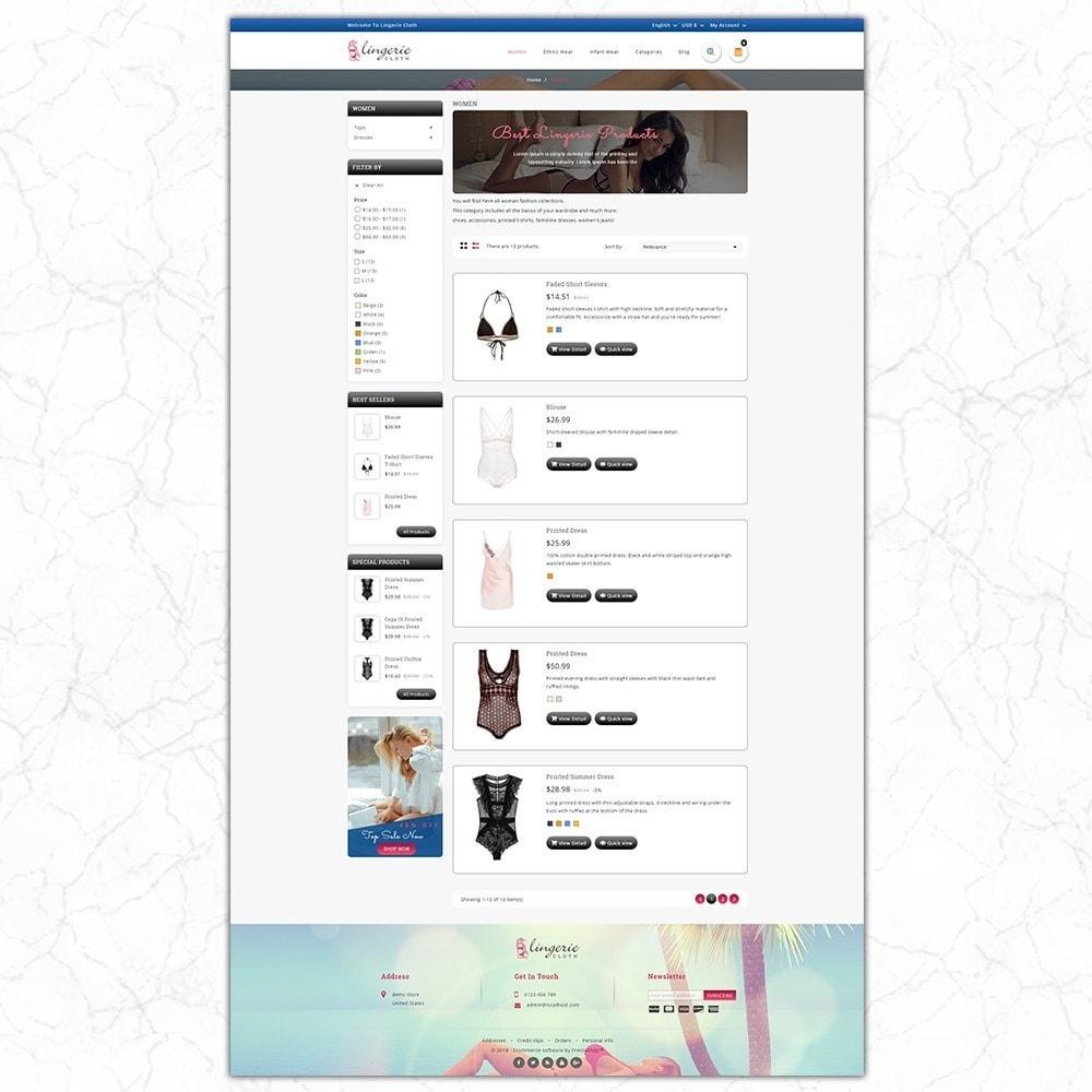 theme - Lingerie & Volwassenen - LingerieCloth - Lingerie Store - 4