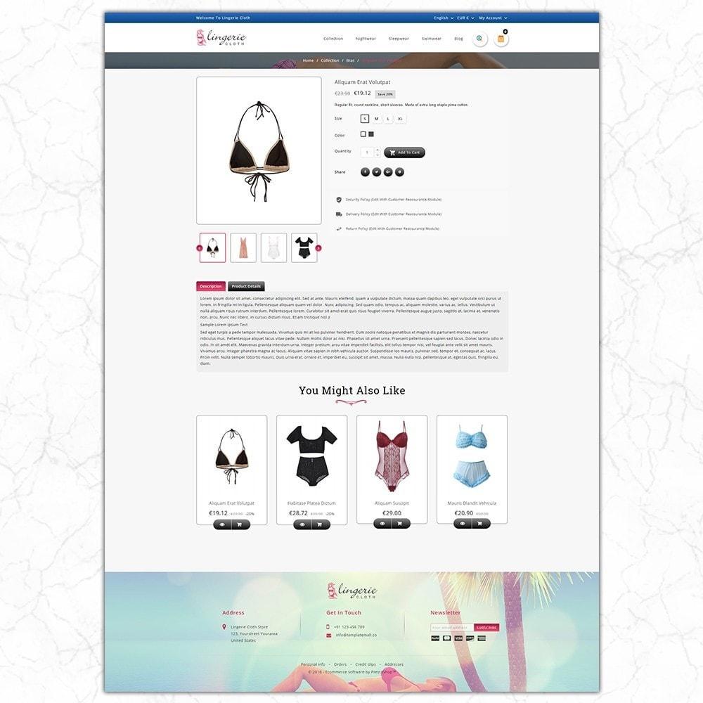 theme - Lingerie & Volwassenen - LingerieCloth - Lingerie Store - 5