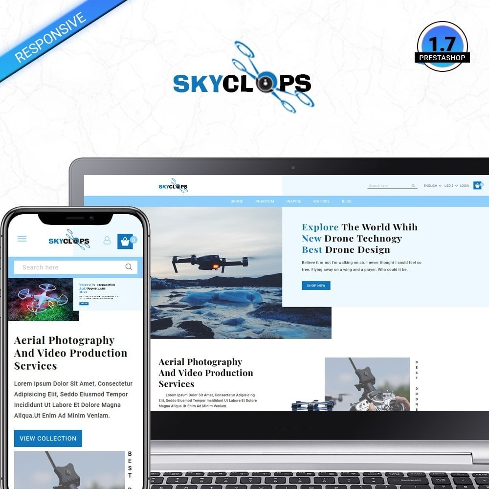 theme - Elektronika & High Tech - Skyclops Drone Store - 1