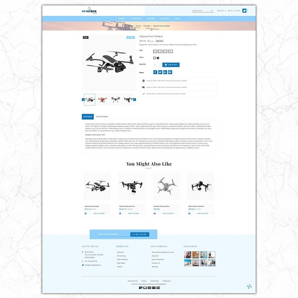 theme - Elektronika & High Tech - Skyclops Drone Store - 5