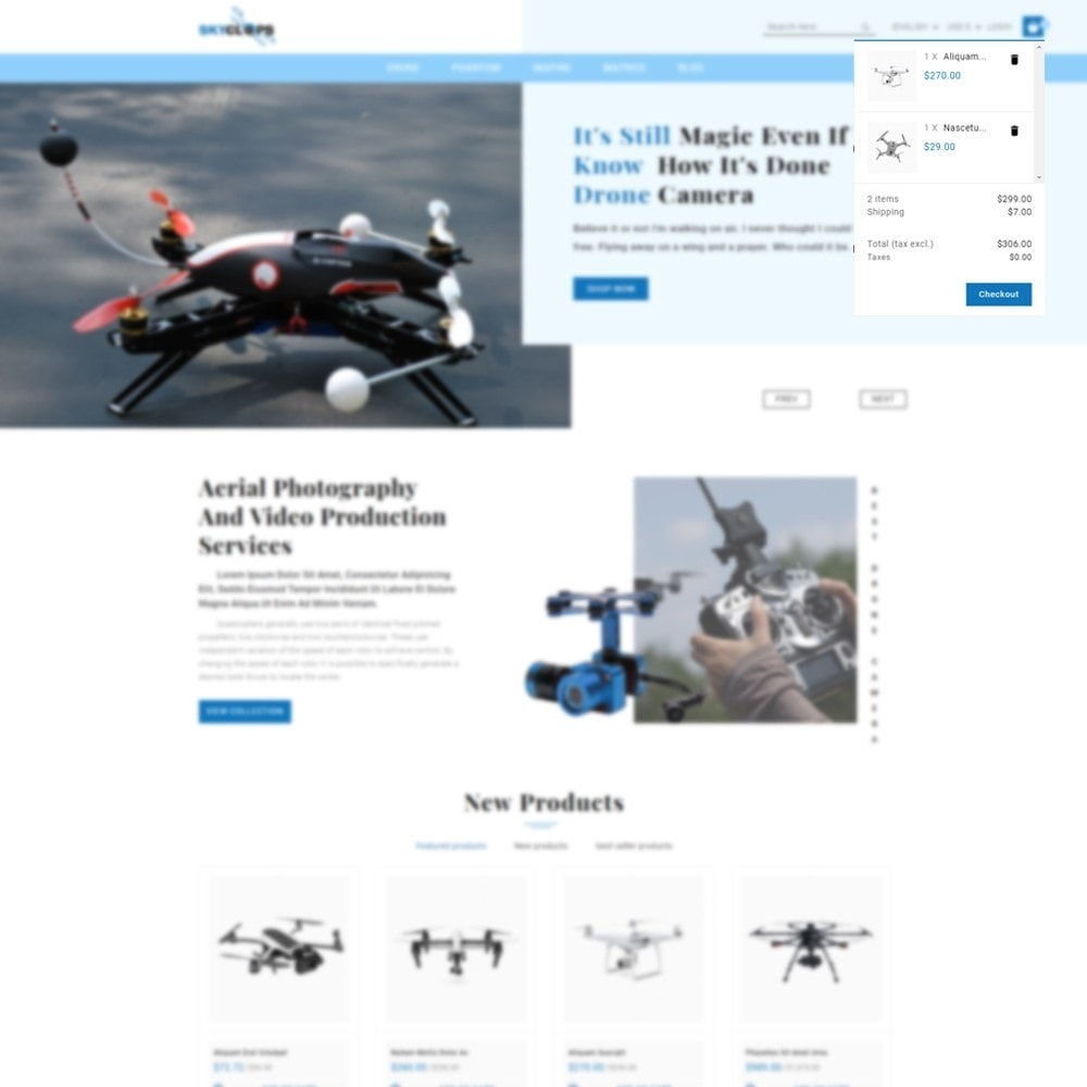 theme - Elektronika & High Tech - Skyclops Drone Store - 7