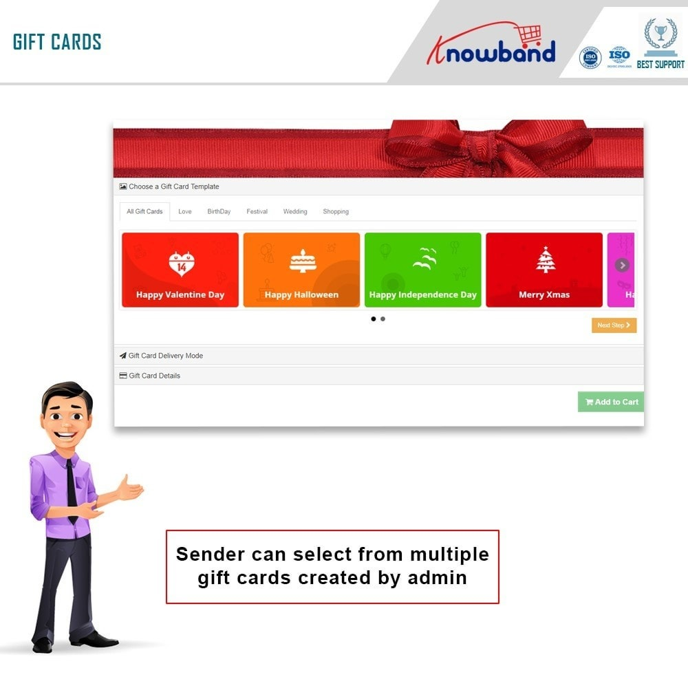 module - Whishlist & Gift Card - Knowband - Gift card manager - 1