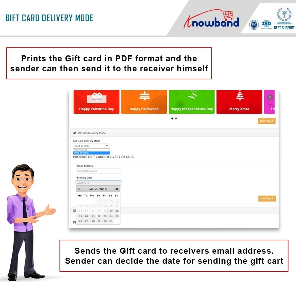 module - Whishlist & Gift Card - Knowband - Gift card manager - 2