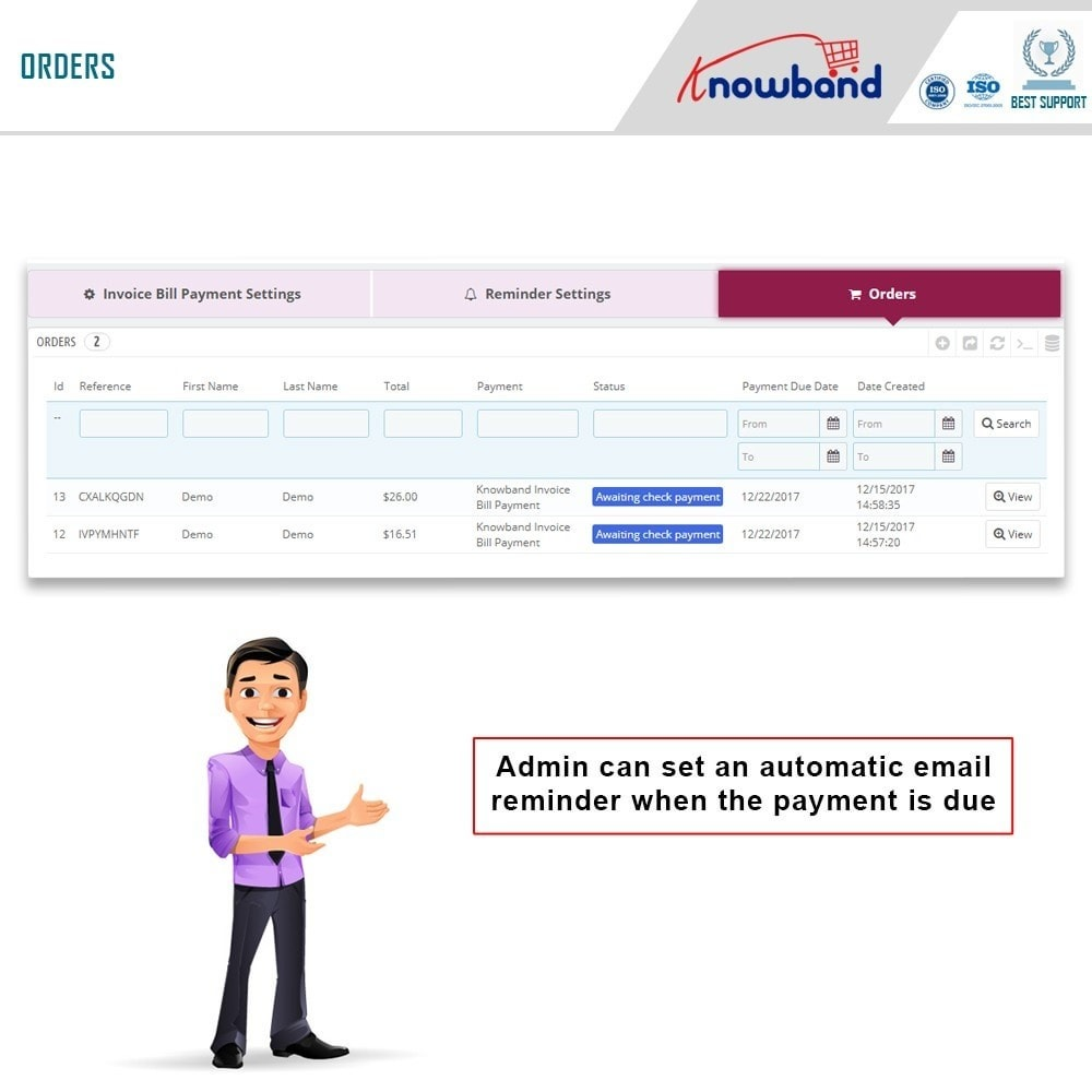 module - Payment by Invoice - Knowband - Invoice Bill Payment - 9