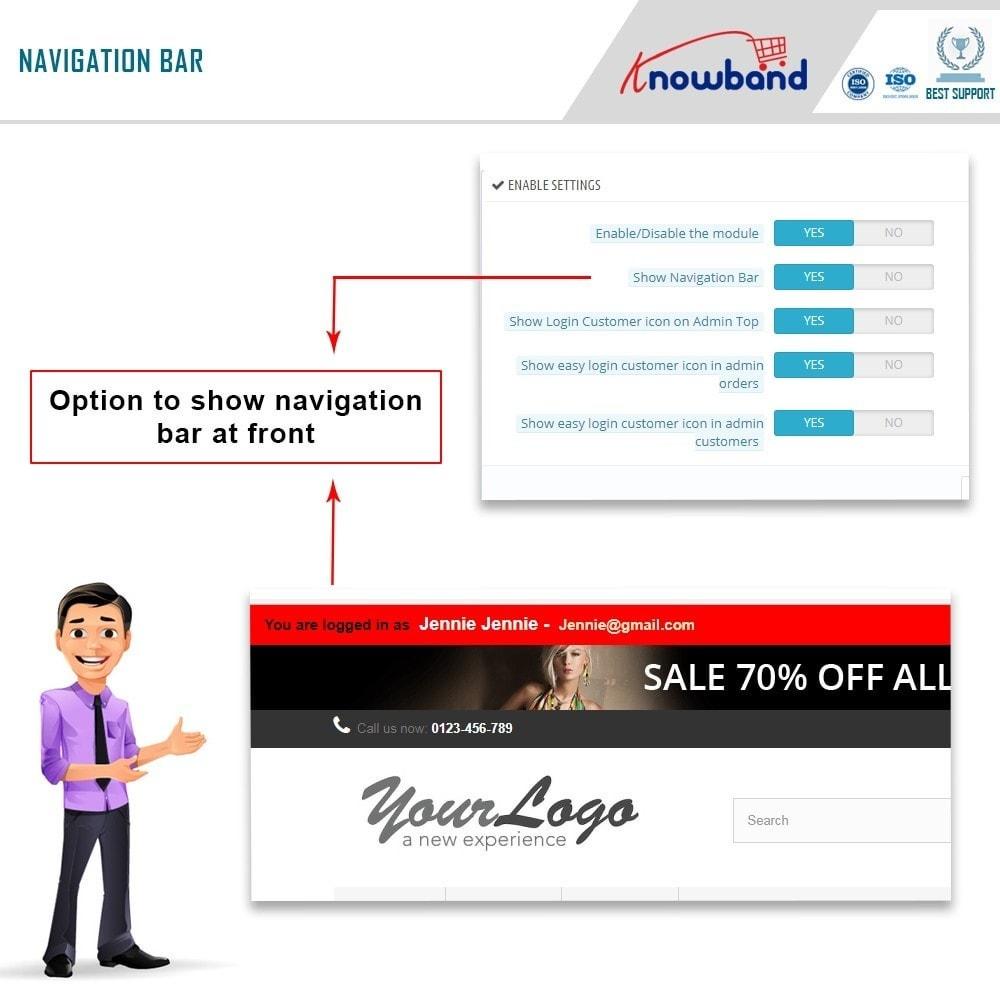 module - Управления учетными записями клиентов - Knowband - Login as a Customer - 2
