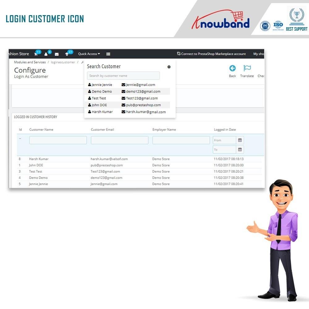 module - Управления учетными записями клиентов - Knowband - Login as a Customer - 5
