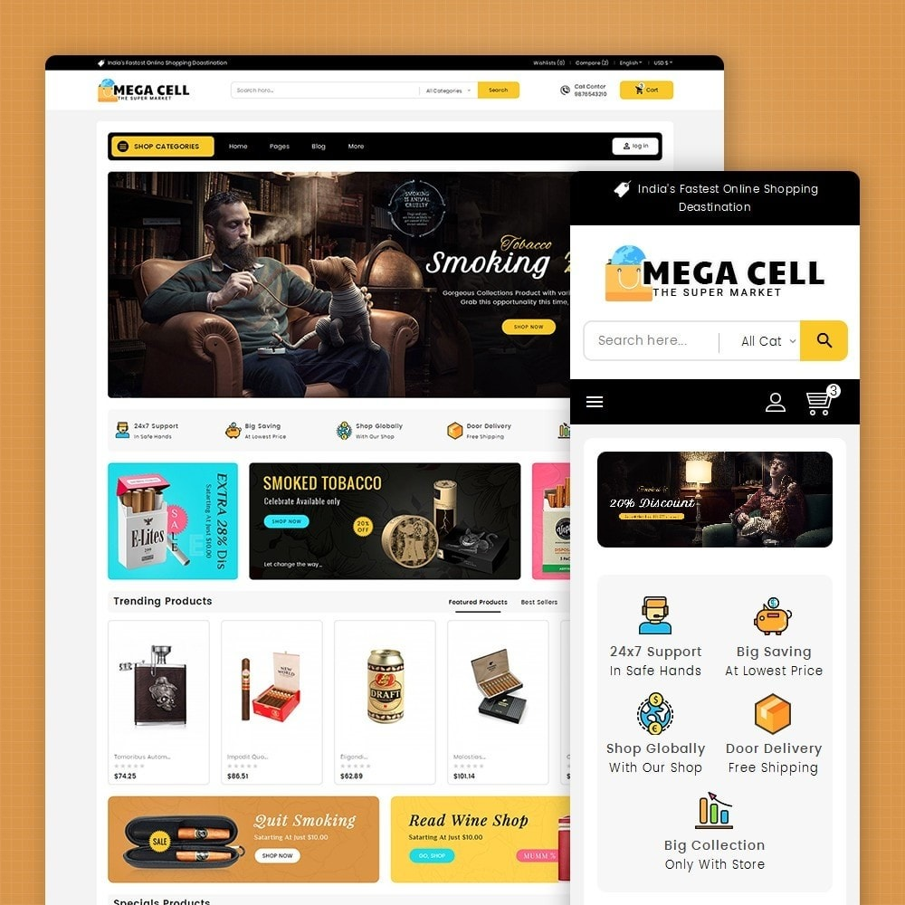theme - Drink & Tobacco - Mega Cell Cigar Tobacco - 1