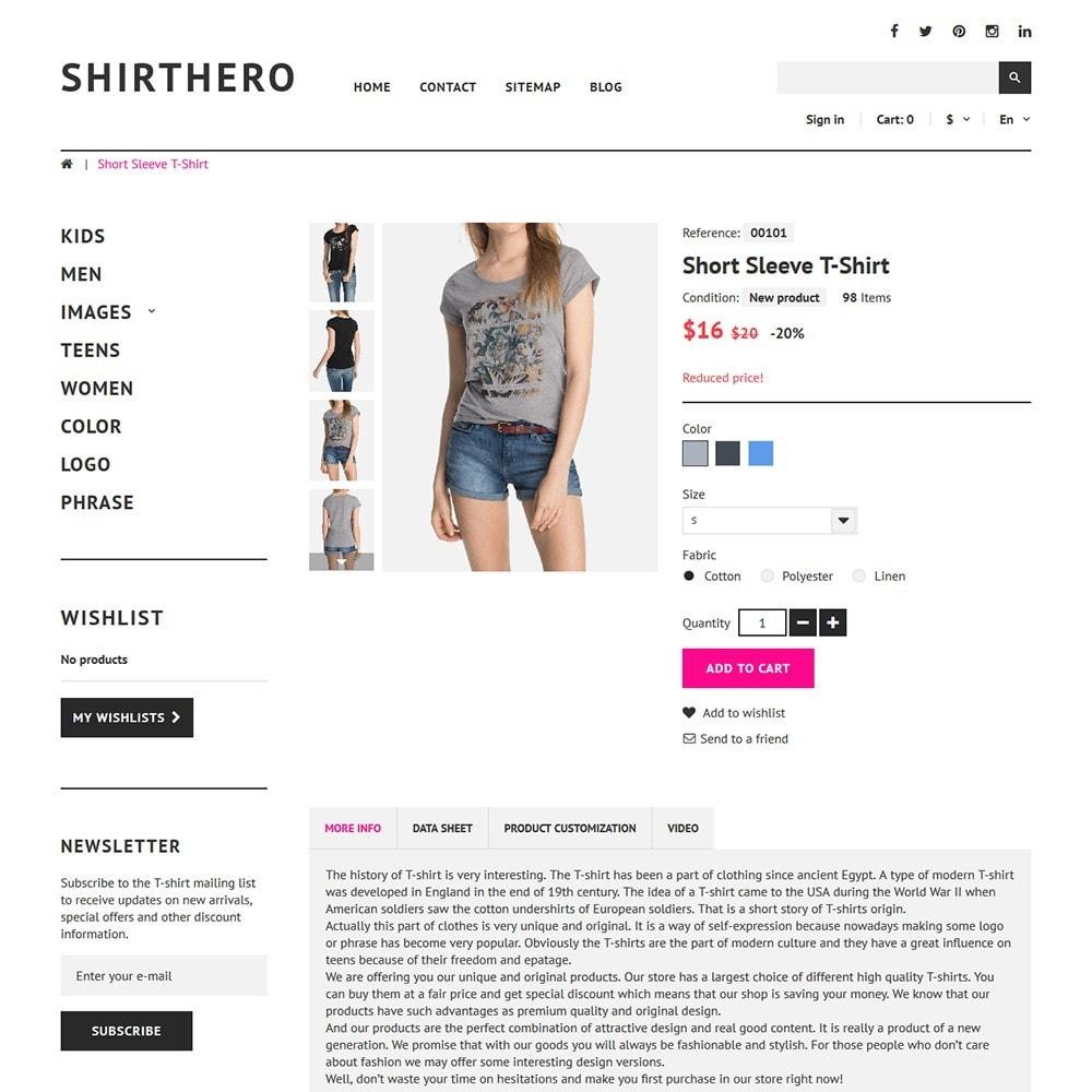 theme - Mode & Schoenen - ShirtHero - T-shirt - 3