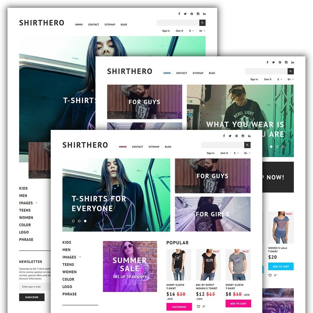 theme - Moda & Calzature - ShirtHero - T-shirt - 2