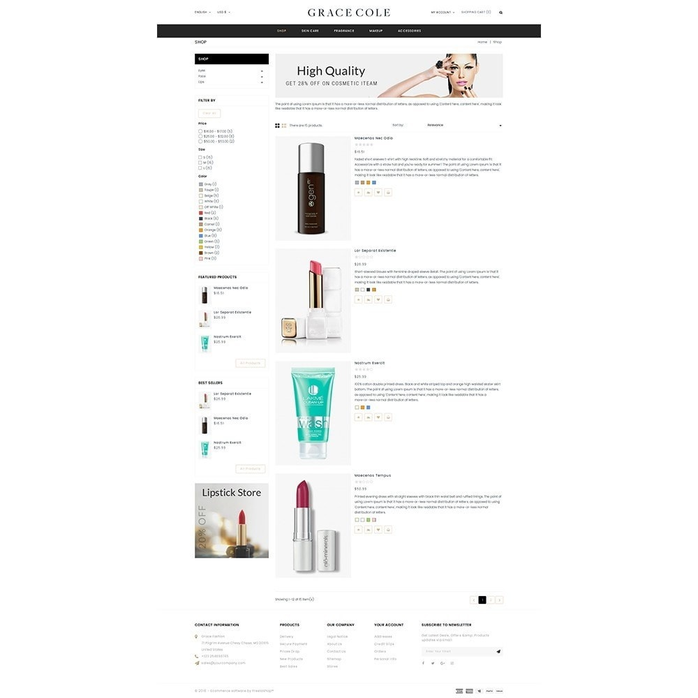 theme - Santé & Beauté - Grace Cole Cosmetic Store - 4