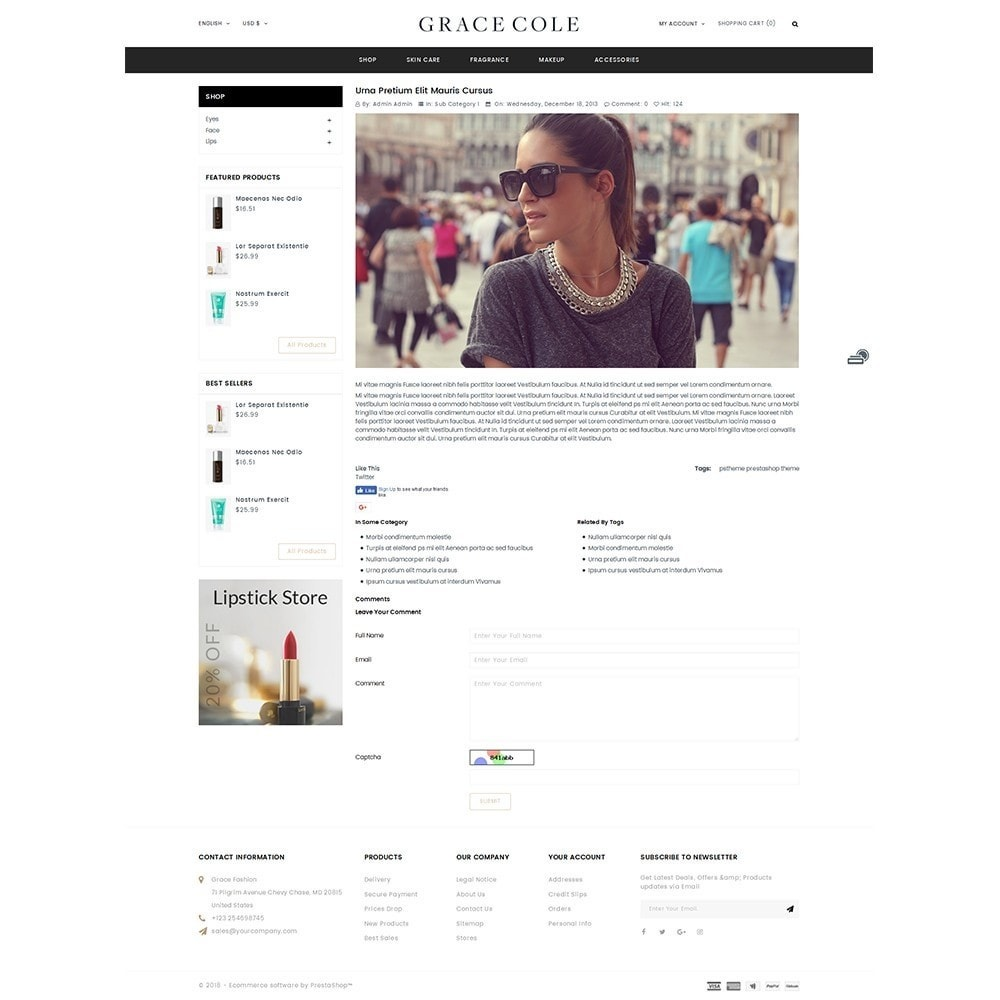 theme - Santé & Beauté - Grace Cole Cosmetic Store - 6
