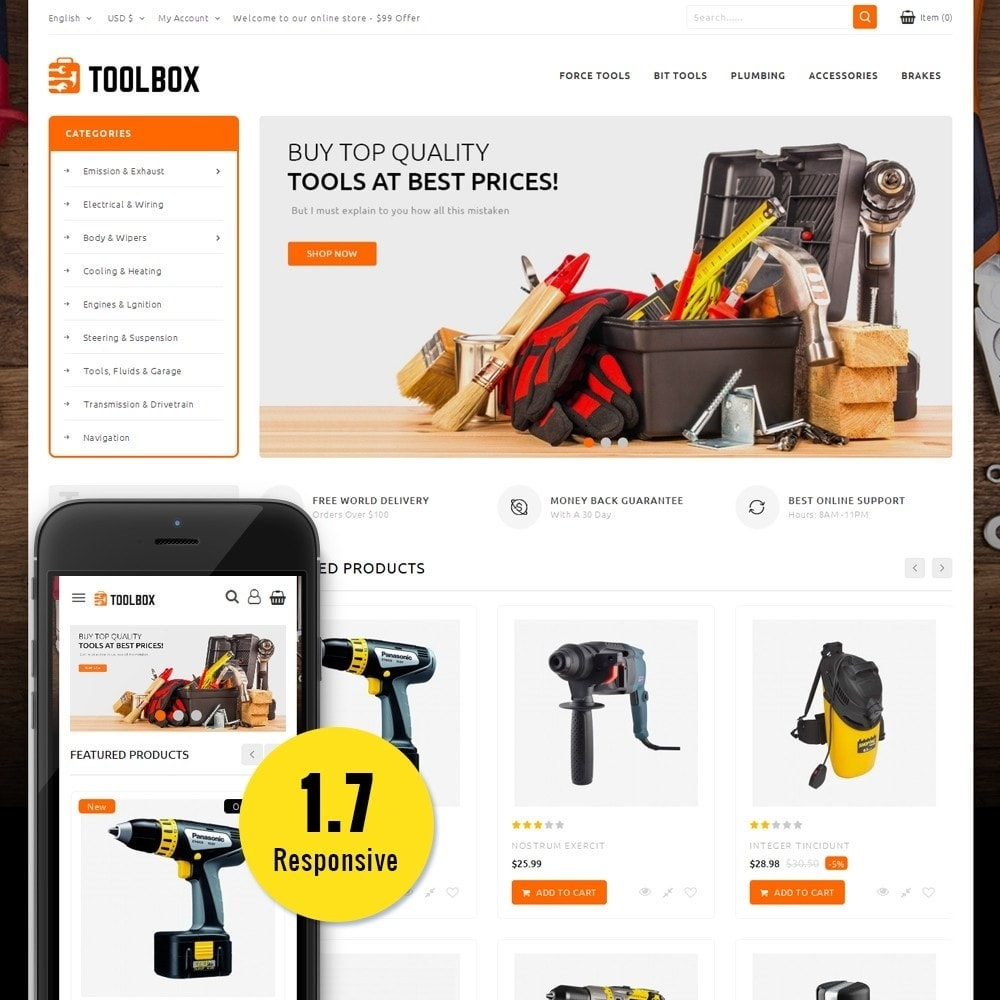 theme - Automotive & Cars - Toolbox Store - 1