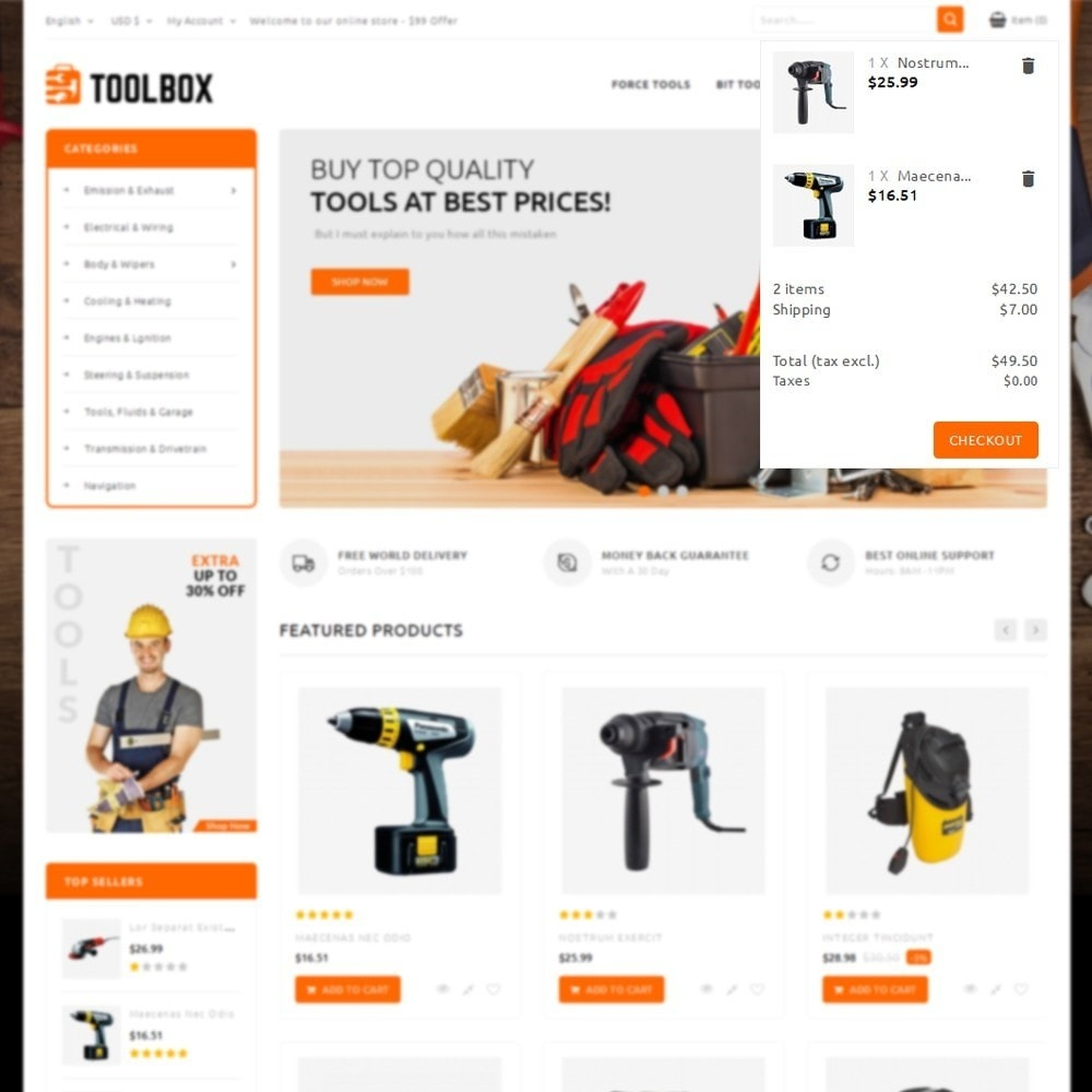 theme - Automotive & Cars - Toolbox Store - 8