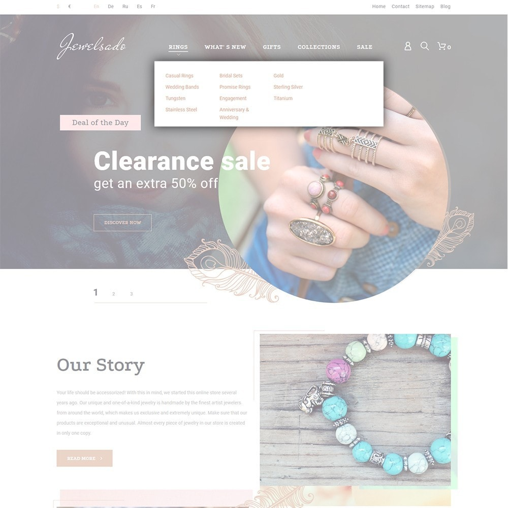 theme - Mode & Schoenen - Jewelsado - Jewelry Store - 4