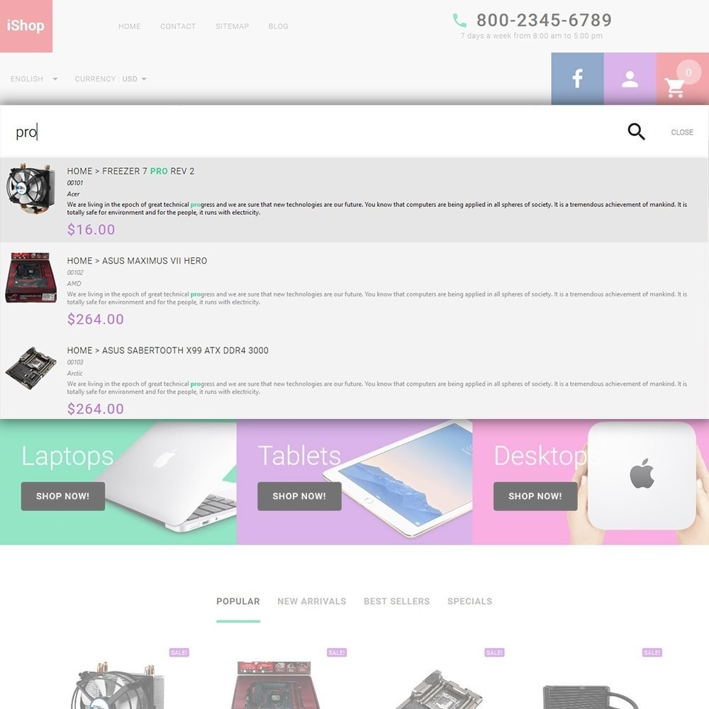 theme - Электроника и компьютеры - iShop - White Computer Store - 6