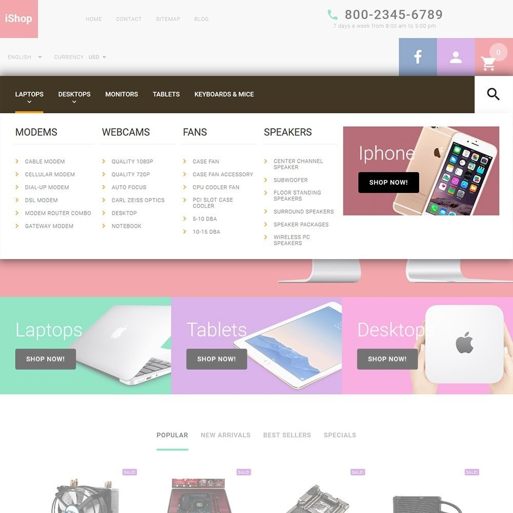 theme - Elettronica & High Tech - iShop - White Computer Store - 5