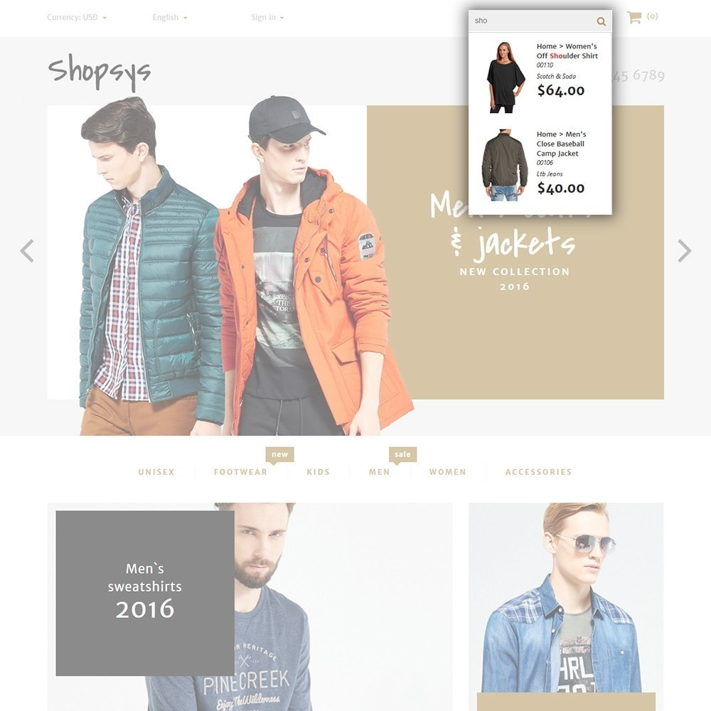 theme - Mode & Chaussures - Shopsys - Trendy Clothes - 4