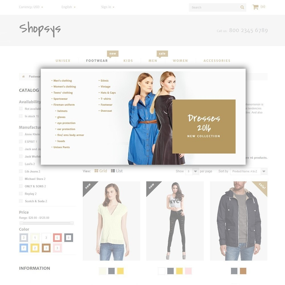 theme - Mode & Chaussures - Shopsys - Trendy Clothes - 6