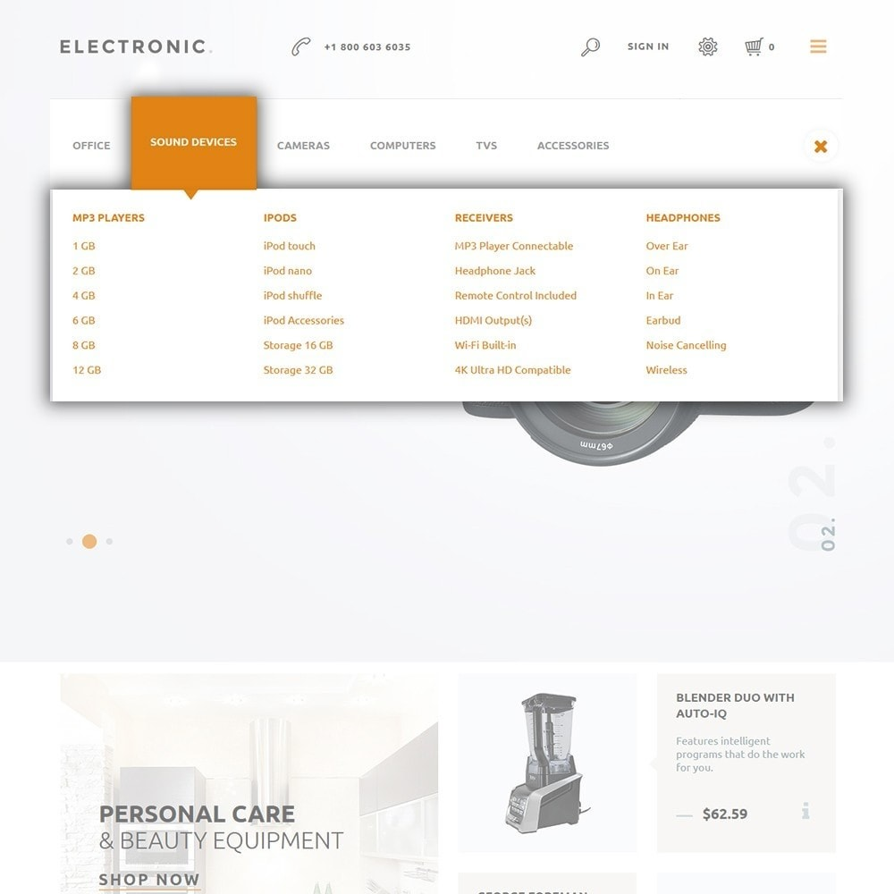 theme - Electrónica e High Tech - Electronic - White Electronics Store - 4