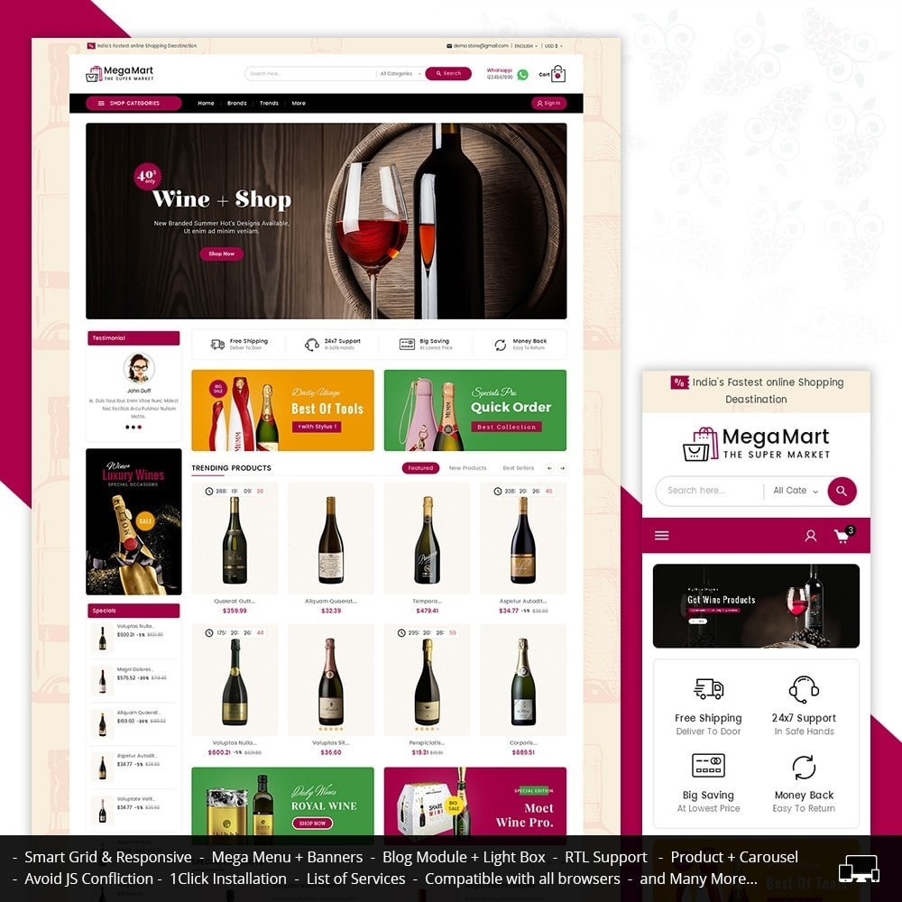 theme - Drink & Tobacco - Mega Mart Wine & Tobacco - 1