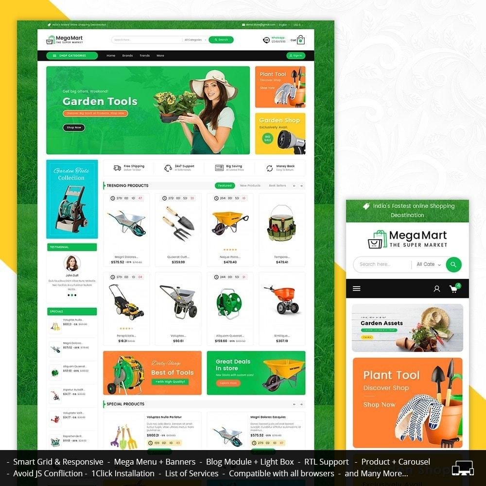 theme - Home & Garden - Mega Mart Gardening Tools - 1