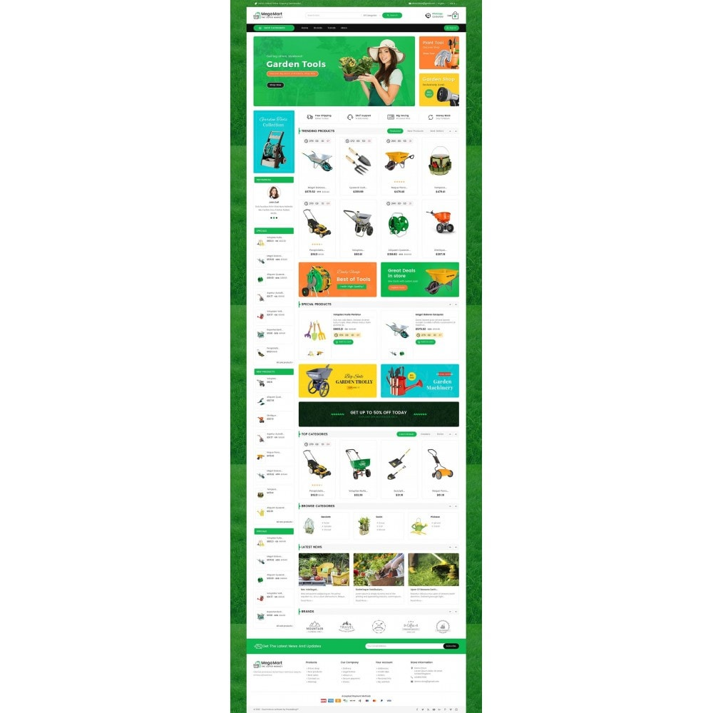 theme - Home & Garden - Mega Mart Gardening Tools - 2