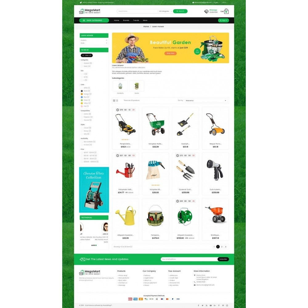 theme - Home & Garden - Mega Mart Gardening Tools - 3