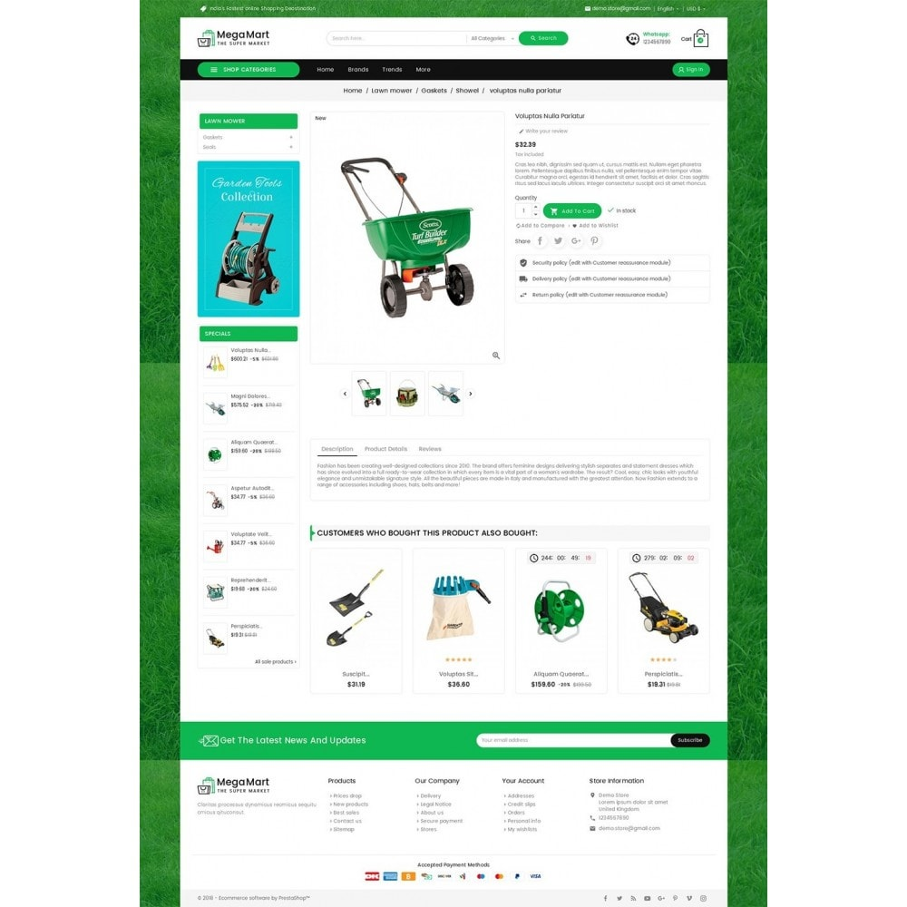 theme - Home & Garden - Mega Mart Gardening Tools - 5