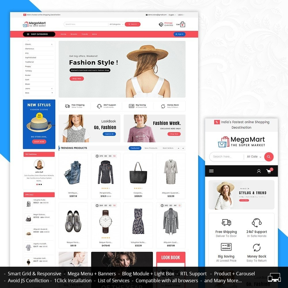 theme - Fashion & Shoes - Mega Mart Fashion Apparel - 1