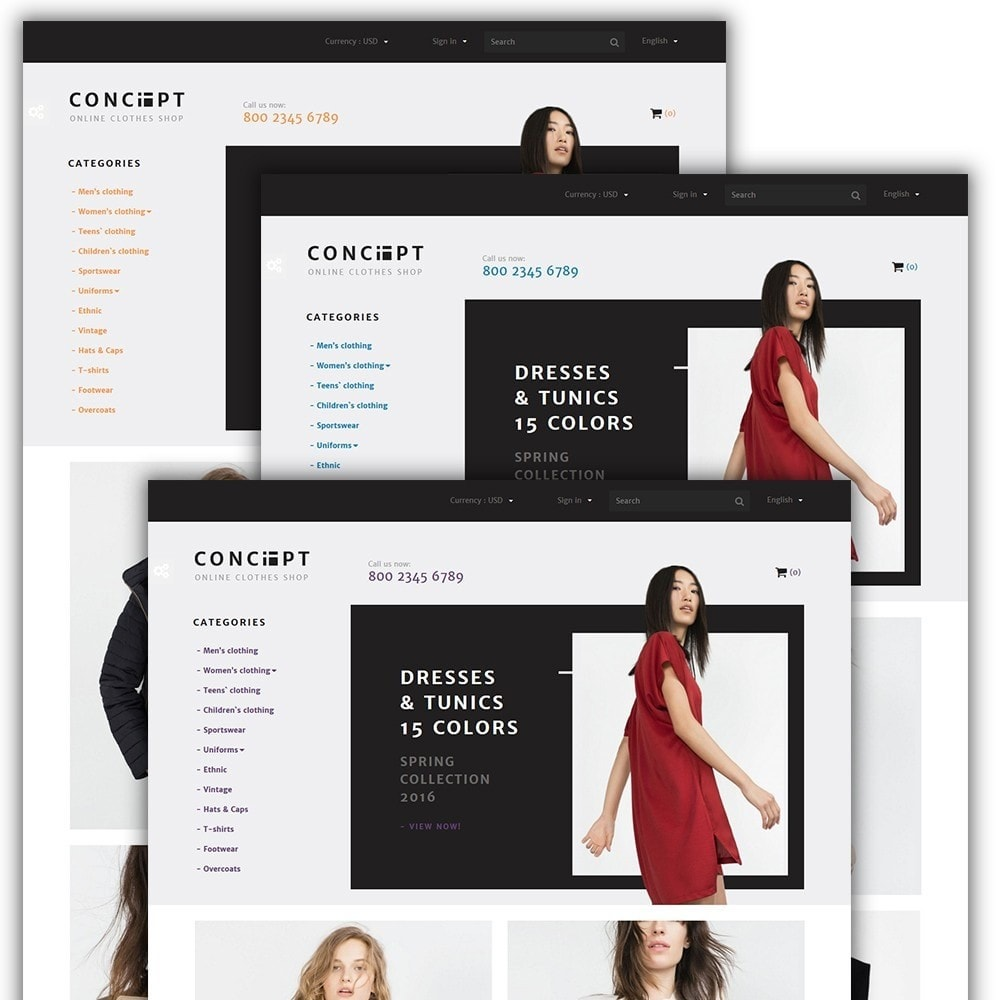 theme - Mode & Chaussures - Concept - Apparel Store - 2
