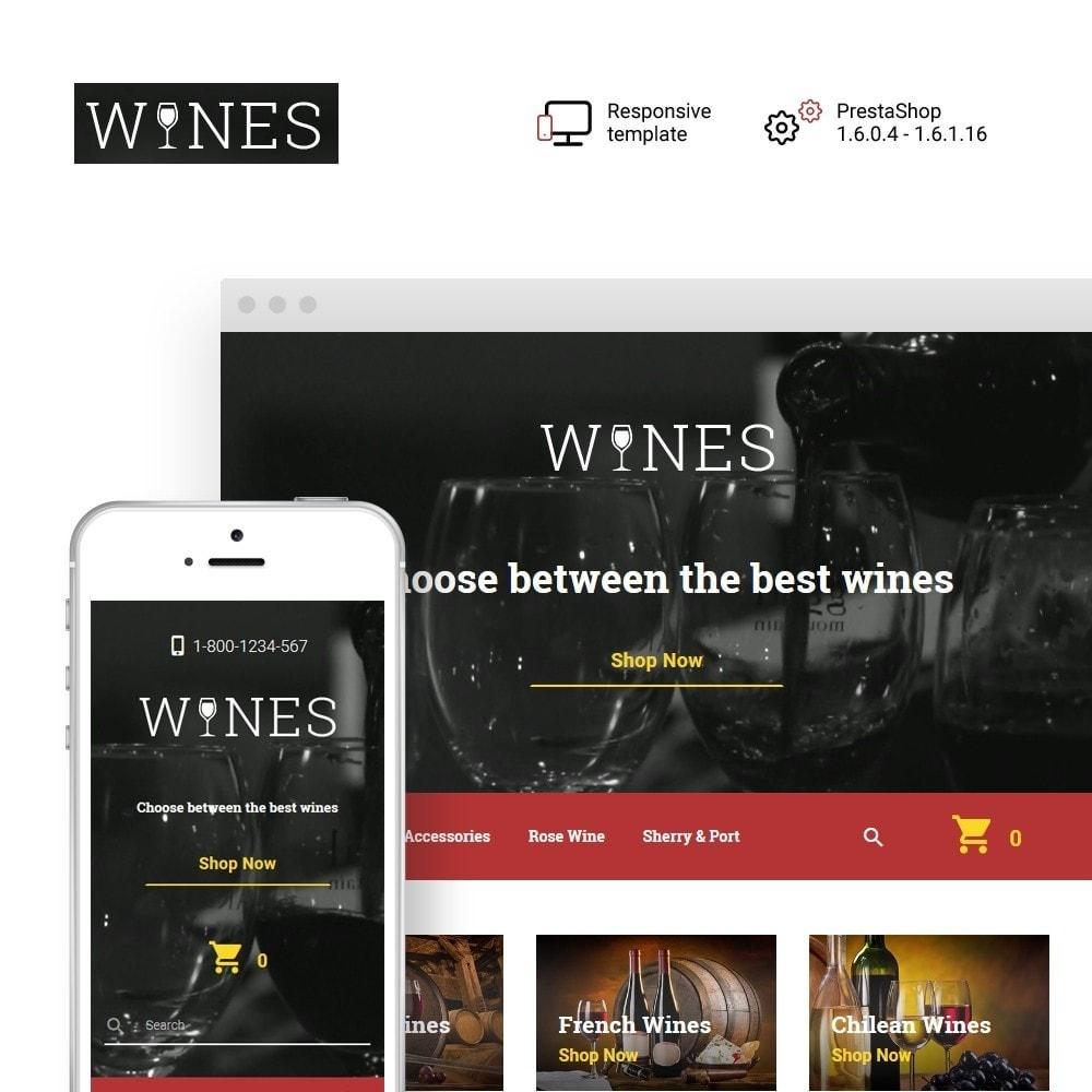theme - Food & Restaurant - Wines - Wine Store - 1