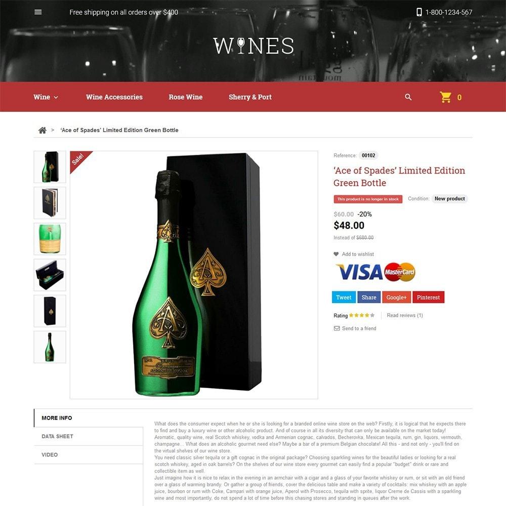 theme - Żywność & Restauracje - Wines - Wine Store - 3