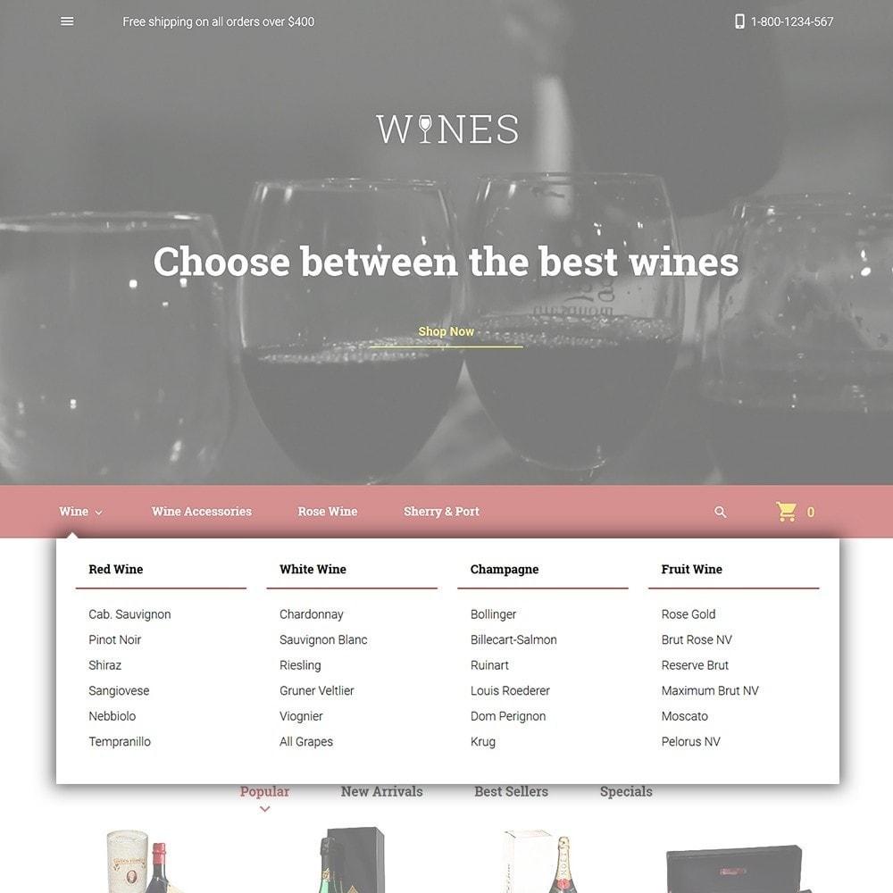 theme - Food & Restaurant - Wines - Wine Store - 4