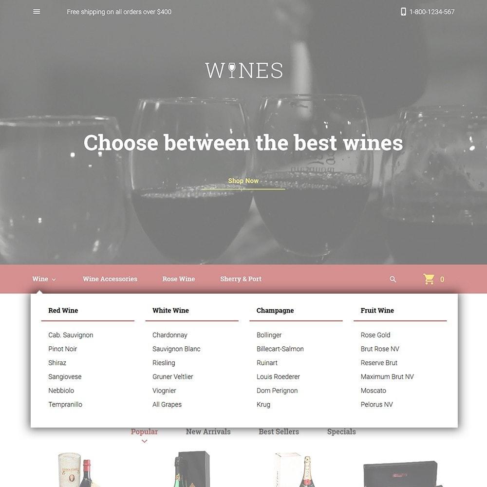 theme - Продовольствие и рестораны - Wines - Wine Store - 4