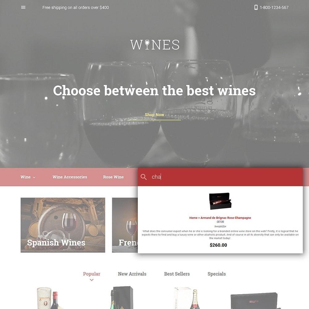 theme - Продовольствие и рестораны - Wines - Wine Store - 6