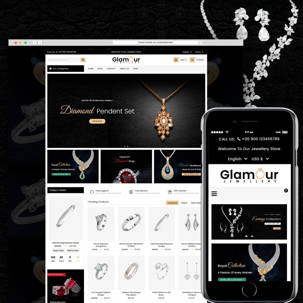 theme - Sieraden & Accessoires - Glamour Jewellery - 1