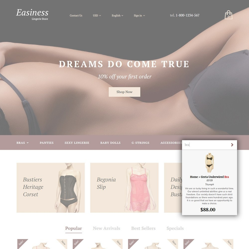 theme - Moda & Obuwie - Easiness - Lingerie Store - 5