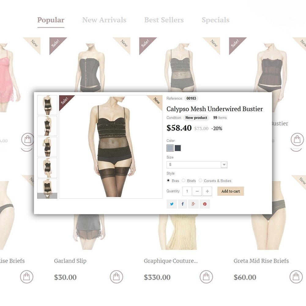 theme - Moda & Obuwie - Easiness - Lingerie Store - 6