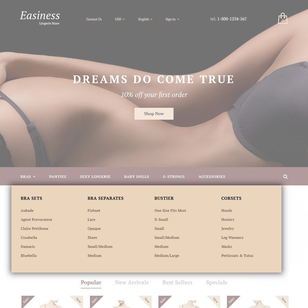 theme - Mode & Chaussures - Easiness - Lingerie Store - 4