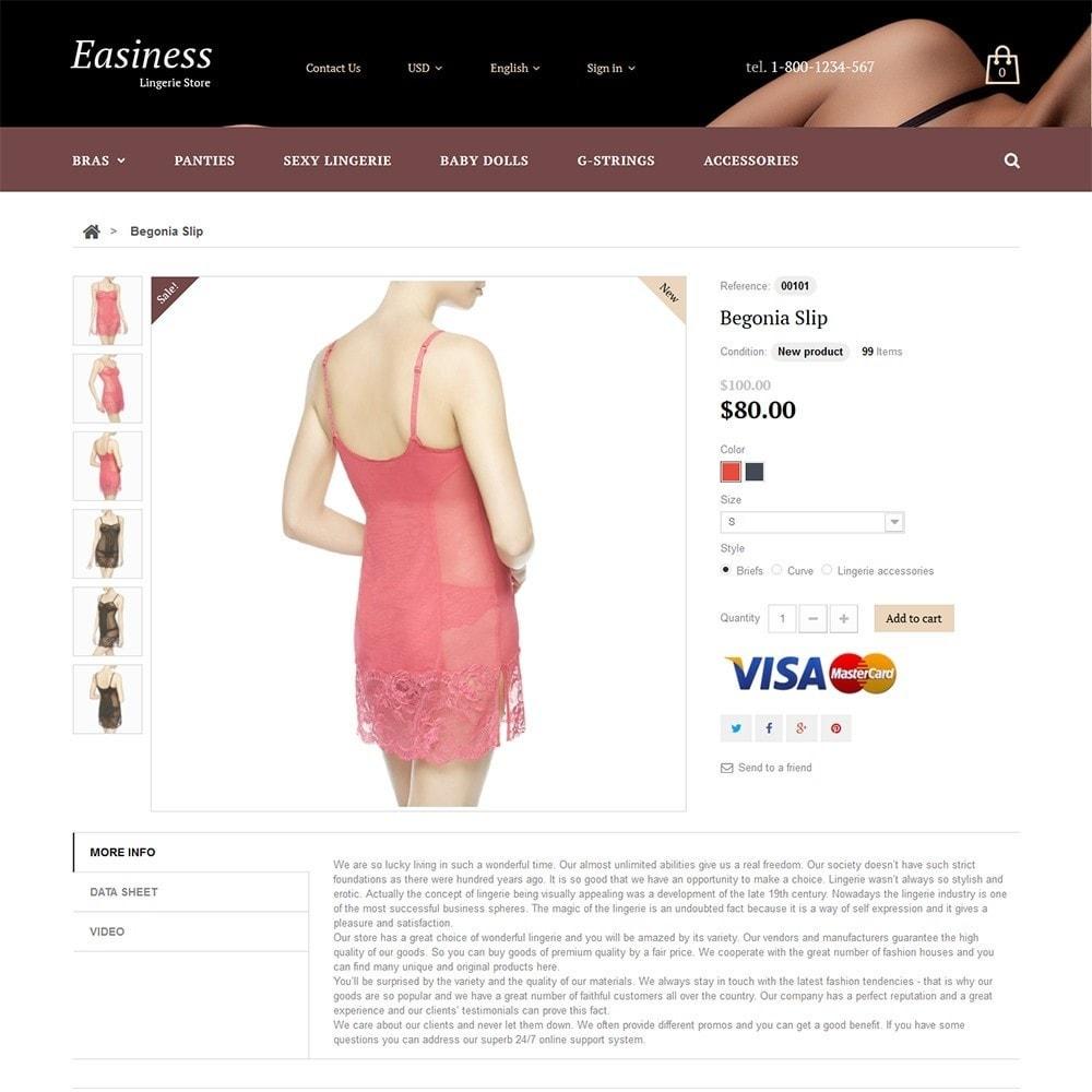 theme - Мода и обувь - Easiness - Lingerie Store - 3
