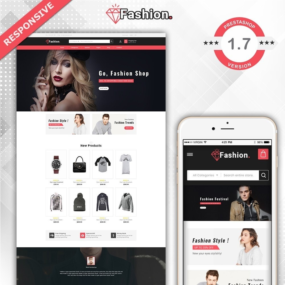 theme - Мода и обувь - Fashion Shop -  Fashion Store Template - 2
