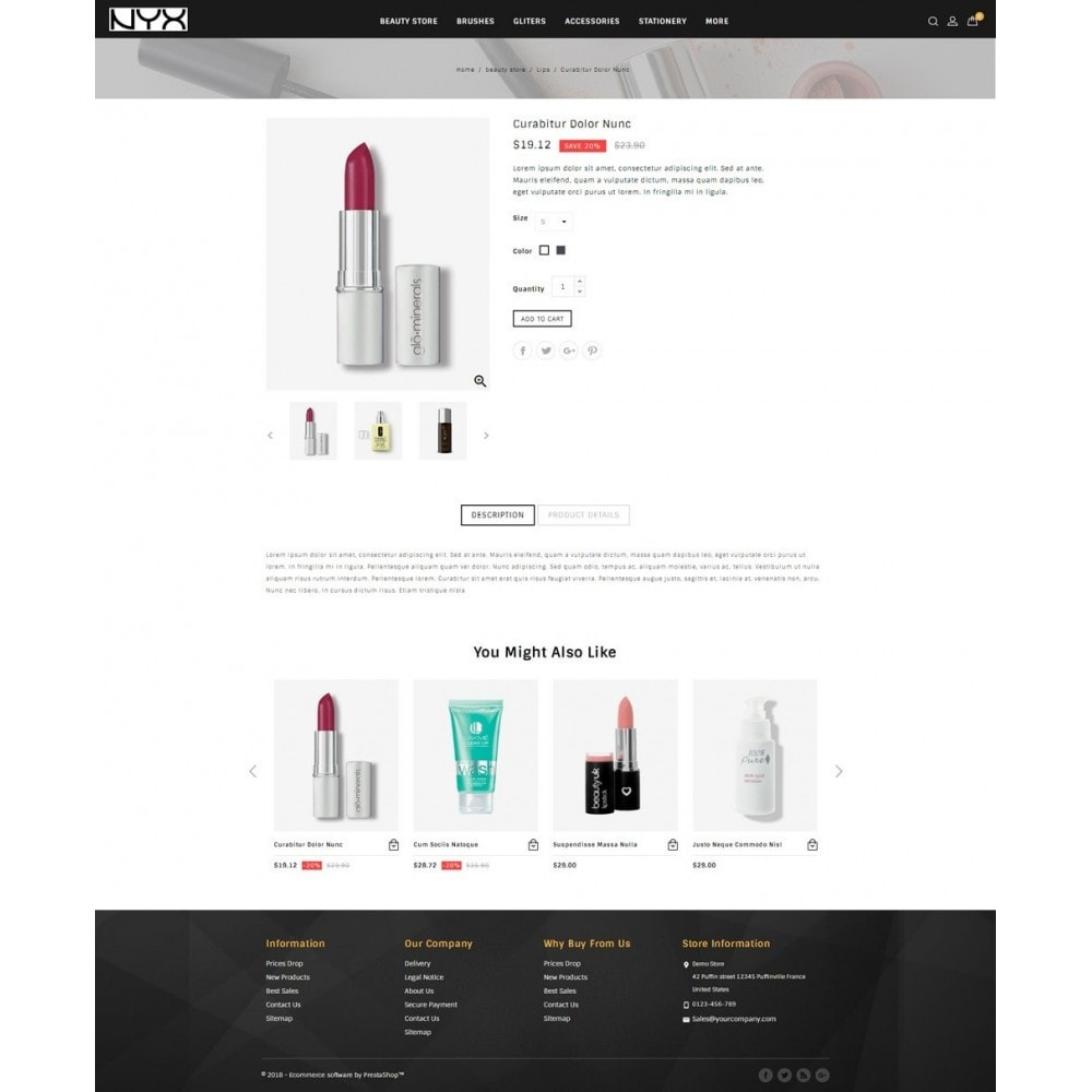 theme - Moda & Calçados - NYX - Cosmetic Store - 4