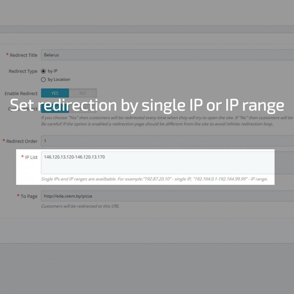module - Internationalisierung & Lokalisierung - GeoIP Redirect - 1