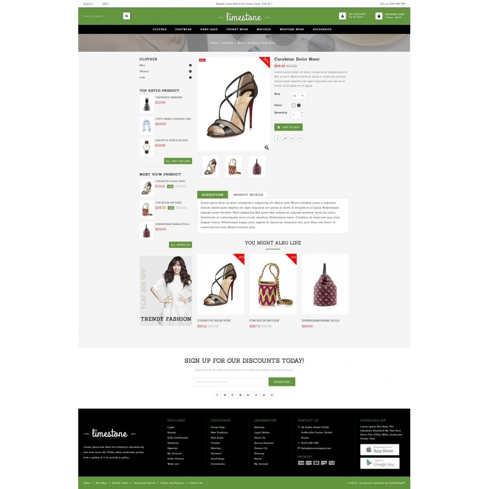 theme - Moda & Obuwie - Limestone - Fashion Design Store - 4