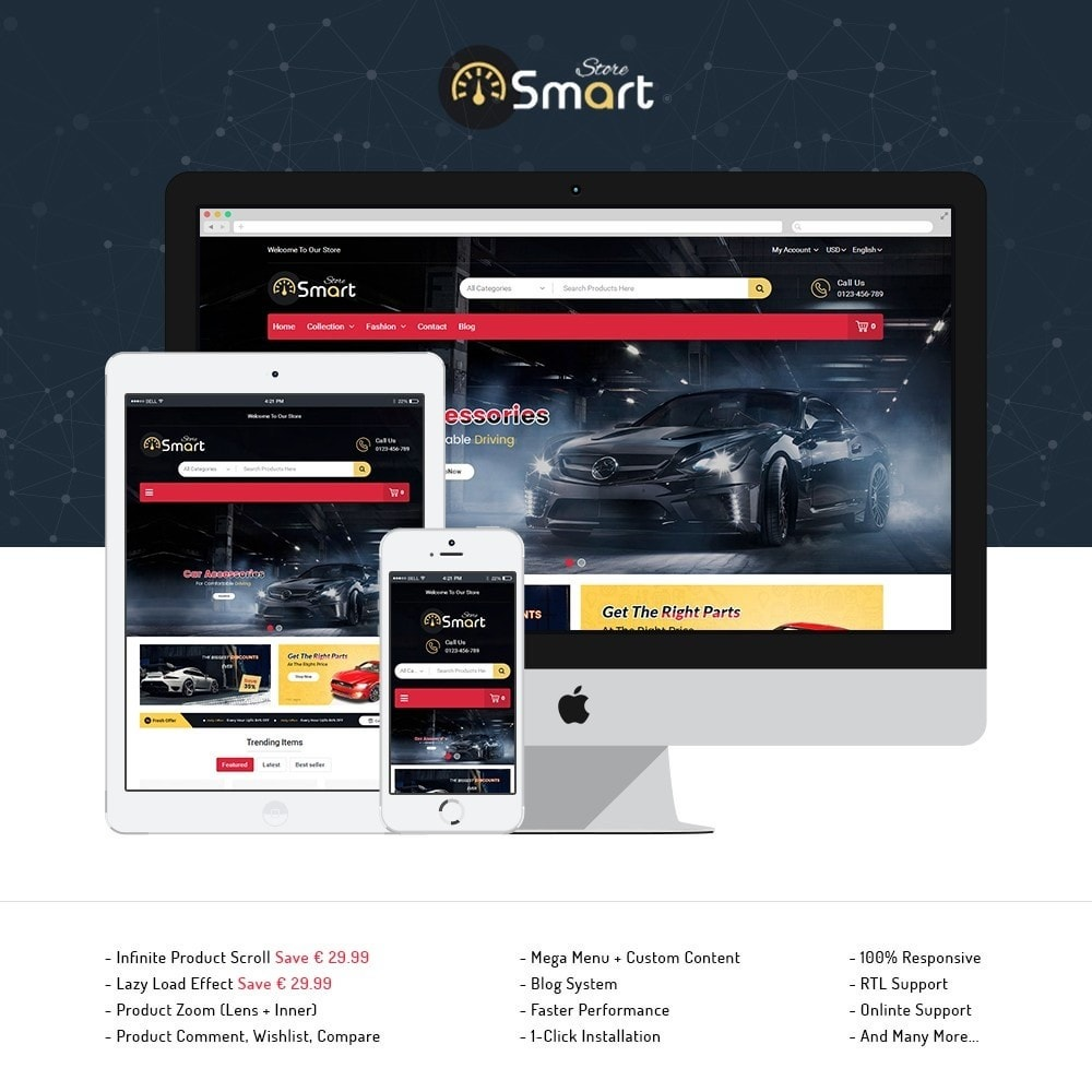 theme - Samochody - Auto Parts Smart Store - 1