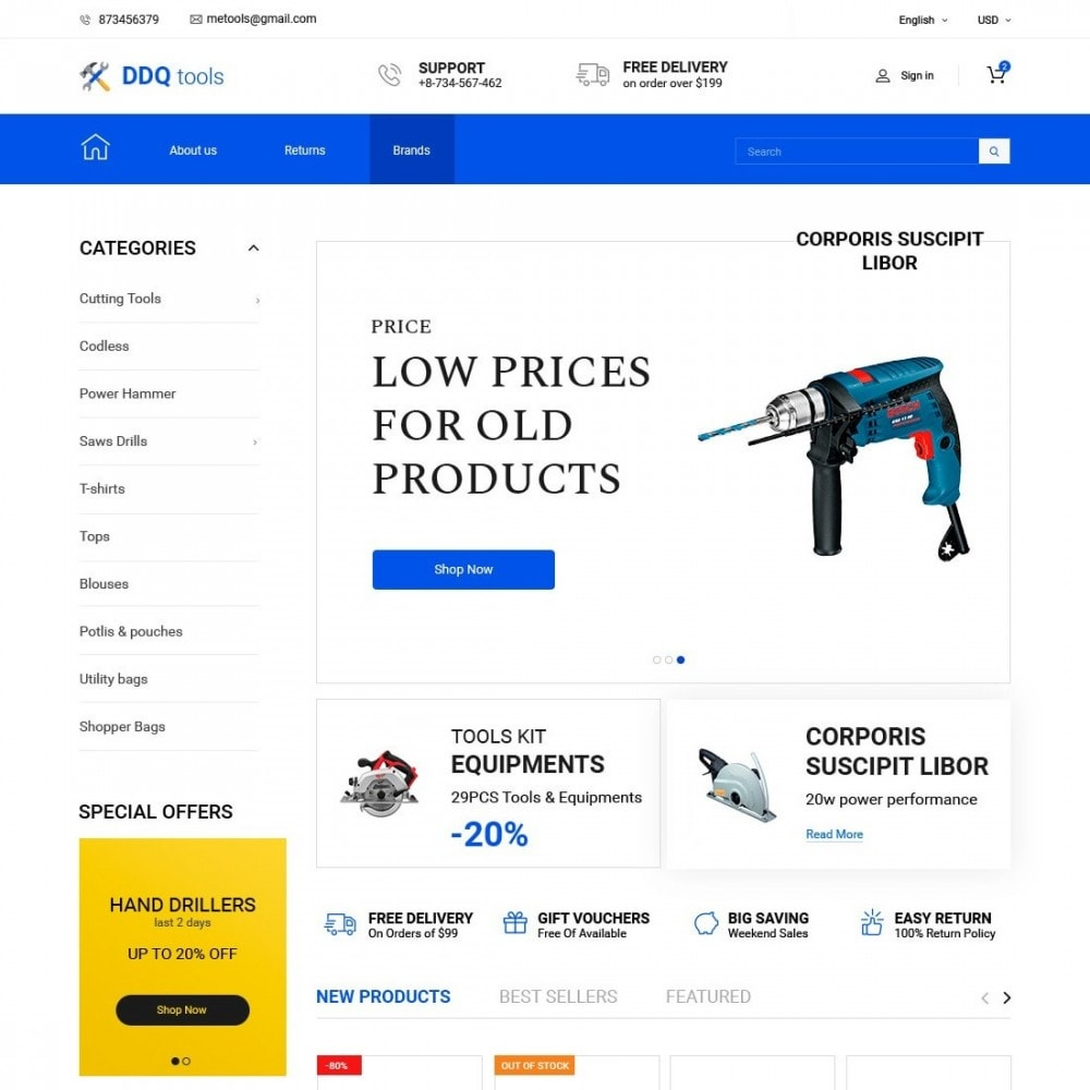 theme - Electronique & High Tech - MyTools  - Tools Store - 1
