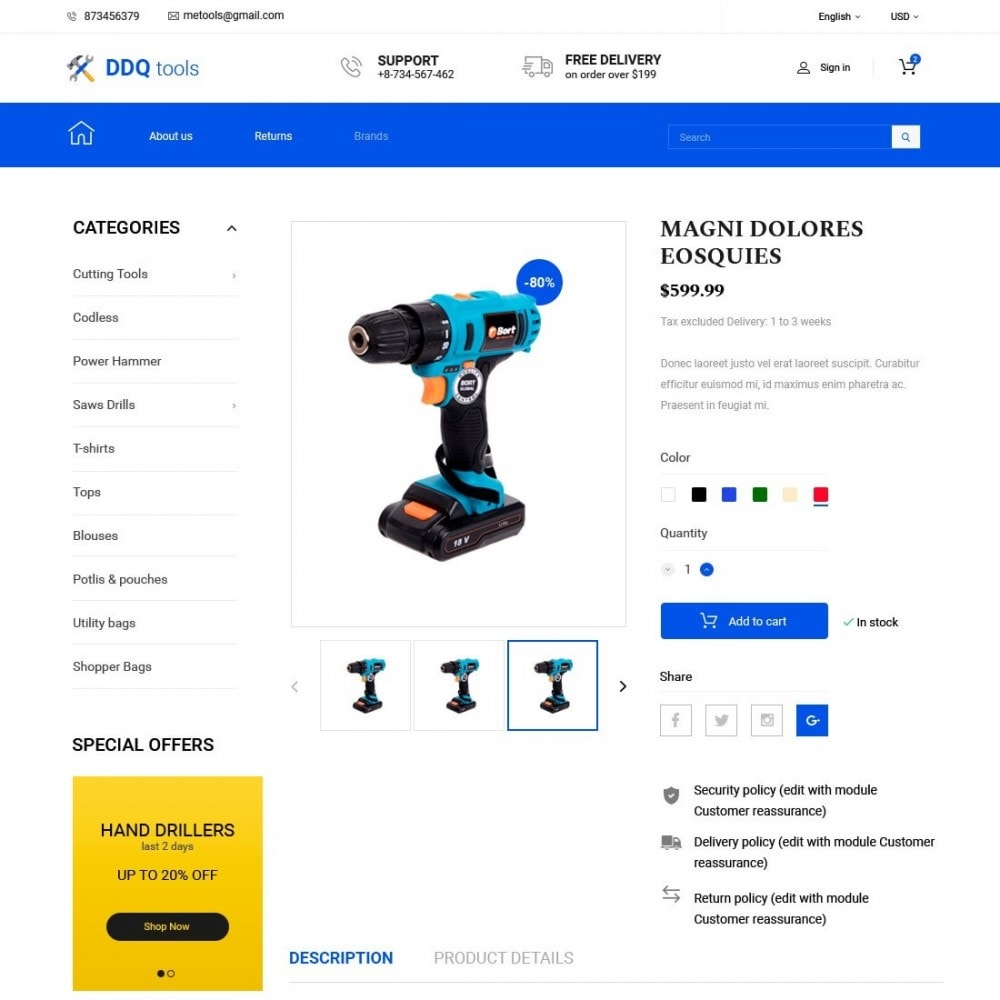 theme - Electronique & High Tech - MyTools  - Tools Store - 3