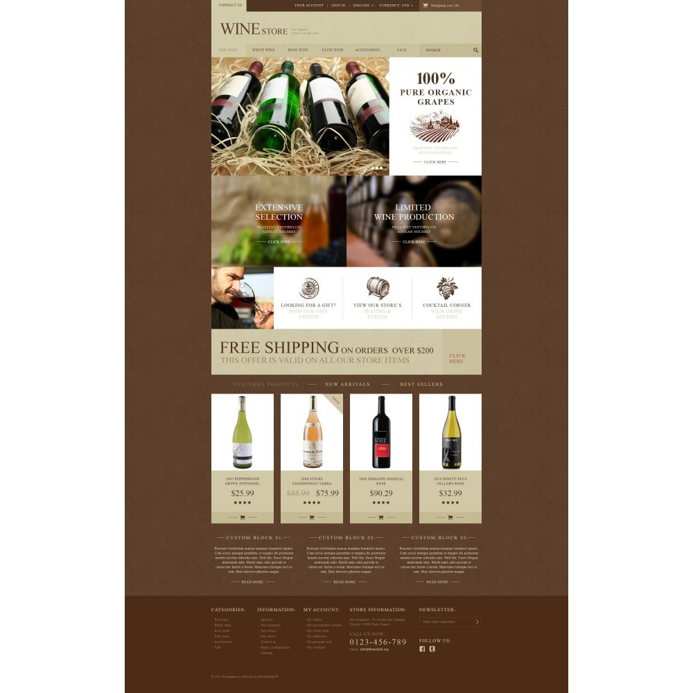theme - Żywność & Restauracje - Wine Store - 4
