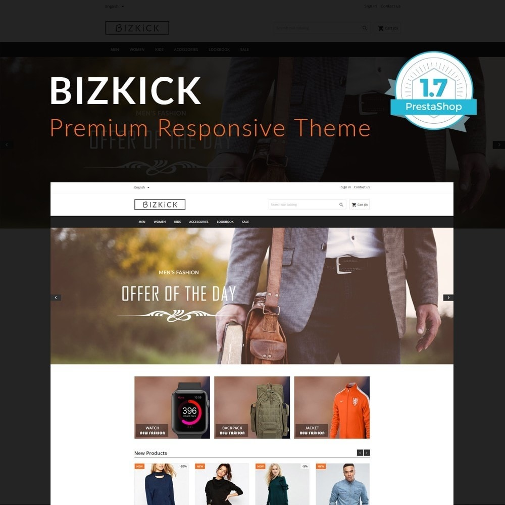 theme - Мода и обувь - BizKick – Fashion Store - 1