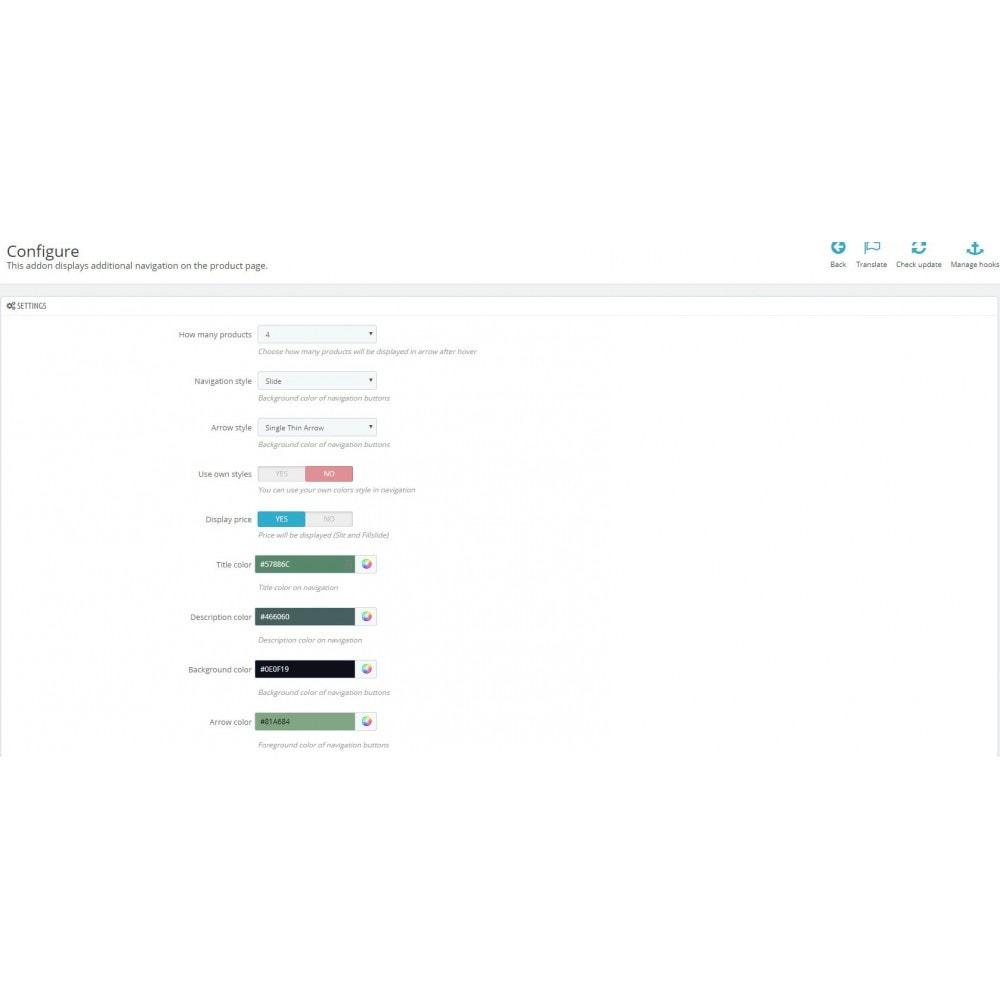 module - Ferramentas de Navegação - Next & Previous Product Arrows Thumbs on Product Page - 2